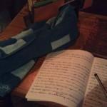 Auch beim Schreiben unentbehrlich: Das Handtuch